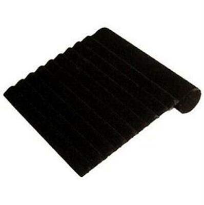 Slotted Bracelet Display Ramp Stand - Black Velvet