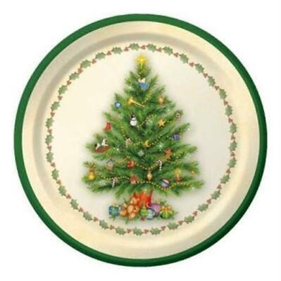 Splendid Tree 7 Inch Paper Plates 8 Pack Christmas Winter Decoration