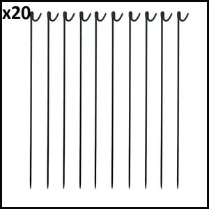 20 x Metal Fencing Pins 1.3M Long With Free Next Day Delivery