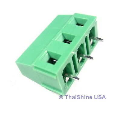 5 x DG128 Screw Terminal Block 3 Positions 5mm - USA Seller - Free Shipping