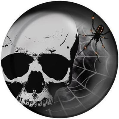 Skull Terror 7 Inch Paper Plates 8 Pack Halloween Party Decorations - Skull Paper Plates