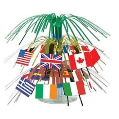 International Flag Mini Cascade Centerpiece Olympics Travel Party Decoration](Olympic Centerpieces)