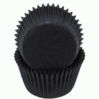 Black Glassine Standard Cupcake Liners Baking Cups Grease Proof Graduation