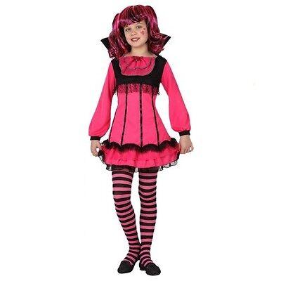 Fasching Halloween Kostüm - Kinder Vampir Mädchen Girl - Gr. 128 - NEU - Kostüm Kinder Vampire Girls