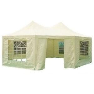 6.8x5M Octagonal Heavy Duty Party Wedding Marquee Tent Gazebo Beige