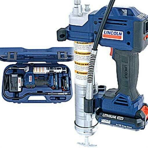 Lincoln 1884 20 Volt Cordless Grease Gun with 2 Lithium Batteries