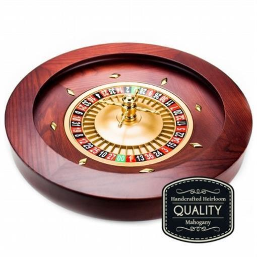 Brybelly Holdings GROU-002 18 in. Casino Grade Deluxe Wooden Roulette Wheel
