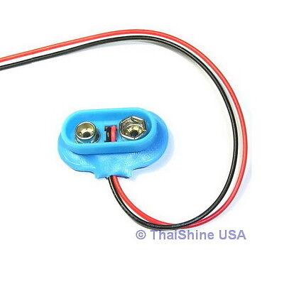 5 X 9V 9-Volt Battery Clip / Connector Snap - USA Seller - Free Shipping - $2.99