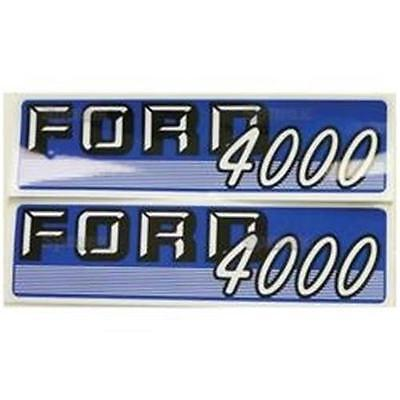 Ford 4000 4cyl Gas Tractor Hood Decal Set Pair 66703