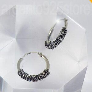 Orecchini-Unisex-cerchio-Uomo-Donna-12-mm-Argento-925-ETNIK-Spiral-ar