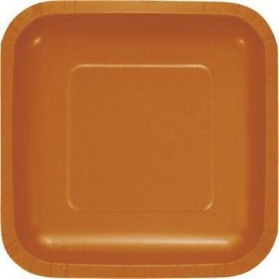 Pumpkin Spice Square Paper Plates 7-inch 18 Per Pack
