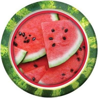 Slice of Summer Watermelon 9 Inch Paper Plates 8 Pack Summer Birthday Party](Watermelon Paper Plates)