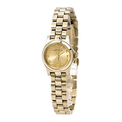 Marc Jacobs MBM3199 Women's Mini Marcy Gold Dial Gold-tone Stainless Steel Watch