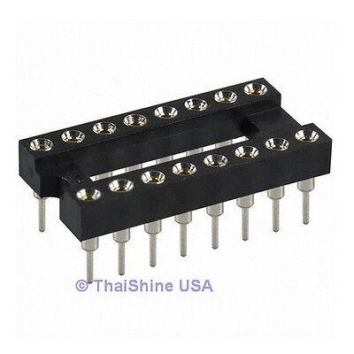 5 X 16 Pin Machine Tooled Ic Socket - Usa Seller - Free Shipping