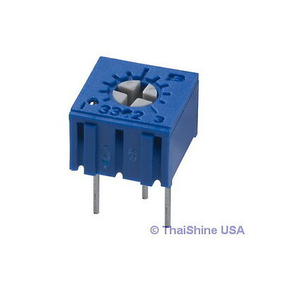 5 X 200 Ohm Trimmer Potentiometer Cermet 1 Turn 3362 3362p Usa Seller Free Ship