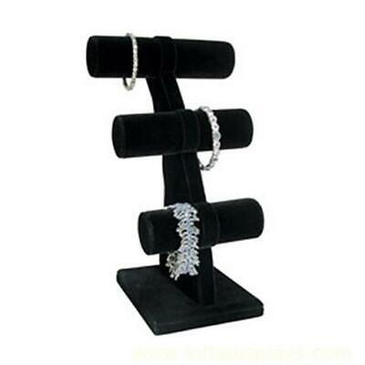 Small 3 Tier T-bar Bracelet Display Stand - Black