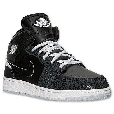 644494-010 Nike Air Jordan 1 Retro '86 (GS) Black/White/Pure Platinum New In (Air Jordan 1 Retro 86 Black White)