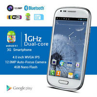 "4"" Android 4.1 Smart Phone 3G Dual SIM Dual Core 1GHz WiFi GPS"