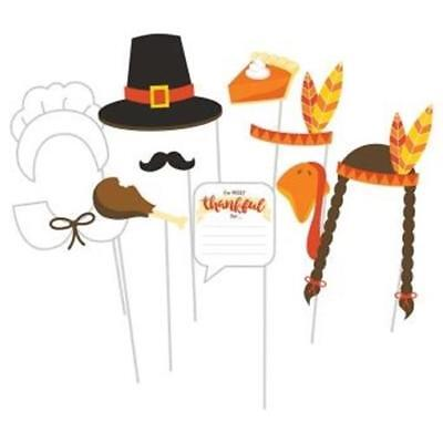 Thanksgiving Photo Props (Thanksgiving Photo Fun Props 10 Pack Thanksgiving Party)