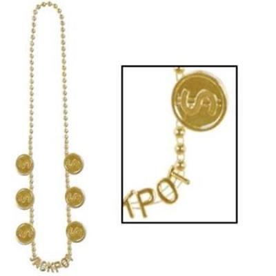 Jackpot Beads Gold Necklace Casino Vegas Gambling Party Accessory](Jackpot Casino Parties)