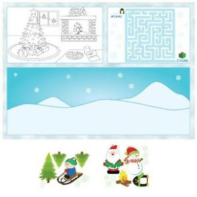 Paper Plate Christmas Crafts (Kid's Activity Christmas Placemats 8 Pack Christmas Decorations & Craft)