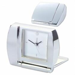 Natico Originals 10-1365 Clock  Folding Alarm  Silver