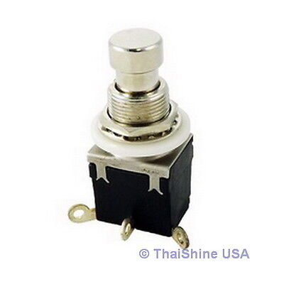 1 X 1p2t Spdt Momentary Stomp Foot Pedal Push Button Switch Solder Lugs Usa