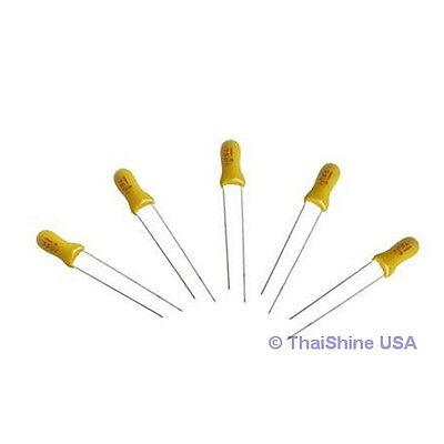10 X 10uf 16v Radial Capacitor Tantalum - Usa Seller - Get It Fast