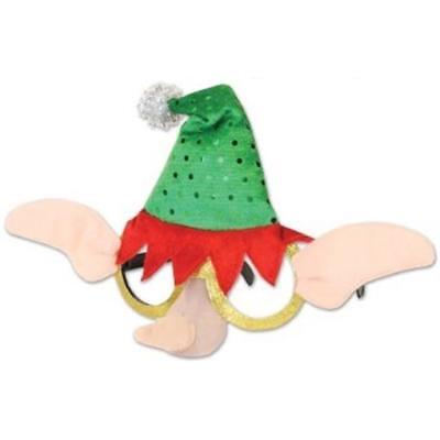 Elf Hat and Ears Glasses Winter Christmas Decoration](Elf Ears And Hat)