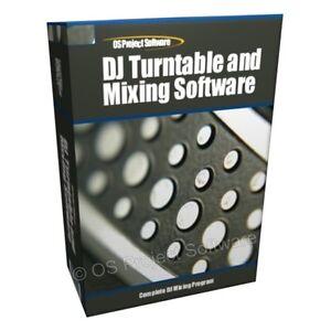 DJ-Turntables-MP3-Mixing-Mixer-Player-Decks-Software-CD