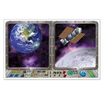 Galaxy Inst-View Outer Space Spaceship Science Party Plastic Wall Decoration