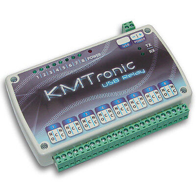 Kmtronic Usb 8 Channel Relay Board Rs232 Serial Controlled Microchip Cdc