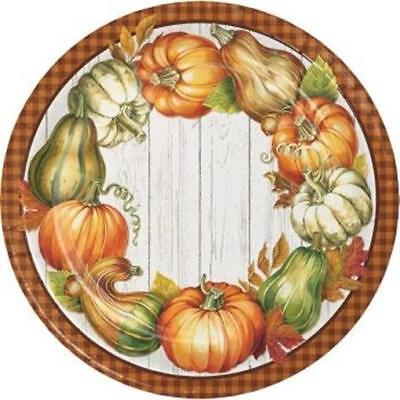 Harvest Plenty 9 Inch Paper Plates 8 Pack Fall Thanksgiving Party Decorations