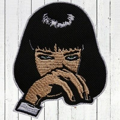 Pulp Fiction Mia Wallace Embroidered Patch Vincent Jules Quentin Tarantino Film