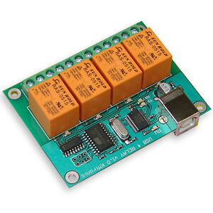 KMTronic USB 4 Kanal Relaiskarte, Seriell Relai relaisplatine, PCB