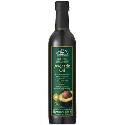 Olivado Organic Extra Virgin Avocado Oil 250ml Fair Trade Certified Gluten free - Extra Virgin Avocado
