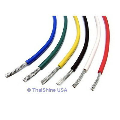 10ft Awg 22 White Hook-up Wire 300cm Stranded - Usa Seller - Free Shipping