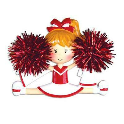 Cheerleader Red Personalized Christmas Ornament OR1488-R PolarX ()