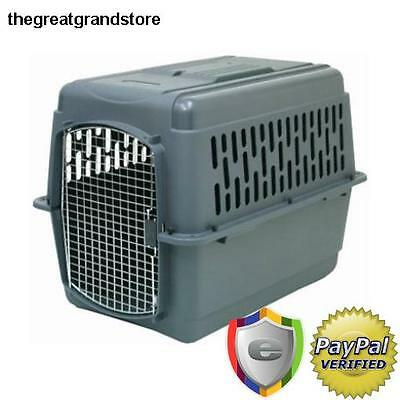 X-Large Dog Crate Kennel Airline Carrier Plastic Cage Wire Door House Pet Travel