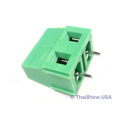 5 x DG128 Screw Terminal Block 2 Positions 5mm - USA Seller - Free Shipping