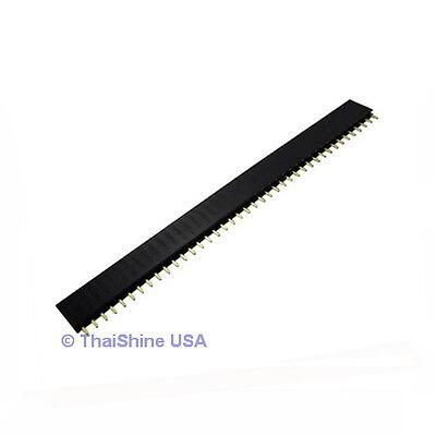 5 pcs 1x40 Pin 2.54 mm Single Row Female Pin Header - USA SELLER - Free Shipping