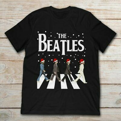 The Beatles Abbey Road Christmas Classic Black T Shirt. Best Christmas Gift. ()