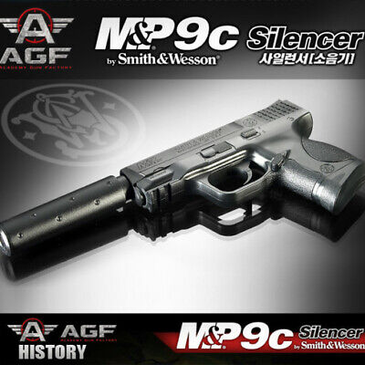 MP9C Silencer Pistol Airsoft Handgun 6mm BB Toy Gun Kids Children Military