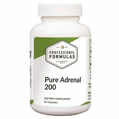 PURE ADRENAL 200 BEST PROFESSIONAL FORMULAS NEW ZEALAND GLANDULAR 60 (Best Adrenal Support Formula)