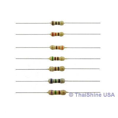 100 x Resistors 1M Ohm 1/4W 5% Carbon Film