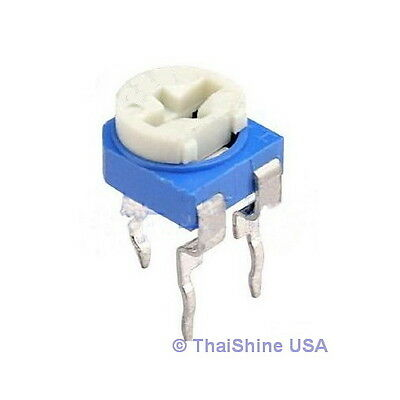 10 X 200k Ohm Trimmer Trim Pot Variable Resistor 6mm - Usa Seller - Free Ship