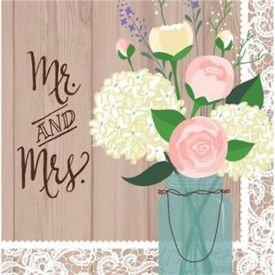 Rustic Wedding Mr and Mrs Lunch Napkins 16 Pack Bridal Shower Decoration](Wedding Paper Plates And Napkins)