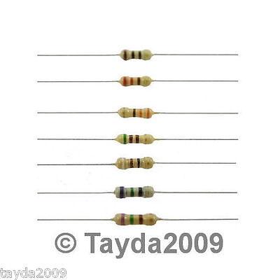 50 X Resistors 100 Ohm Ohms 14w 5 Carbon Film
