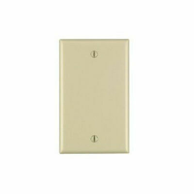 Blank Single Gang 1-Gang Flush Mount Wall Face Plate Outlet Cover - Ivory Beige Ivory Single Gang Faceplate