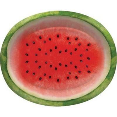 Juicy Watermelon 12 Inch Oval Paper Plates 8 Pack Summer Birthday Party Decor](Watermelon Paper Plates)